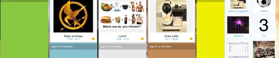 Kalendervy i SnailDay, en app för att underlätta daglig planering