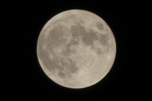 Full moon in February, 2016
