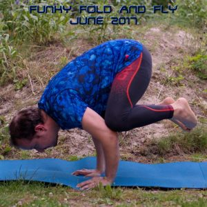 Crow pose in June 22nd 2017. Today must the International Crow poseDay, as I'm assigned this one in two out three yogachallenges, and I've also see friends practicing this arm balance asana in