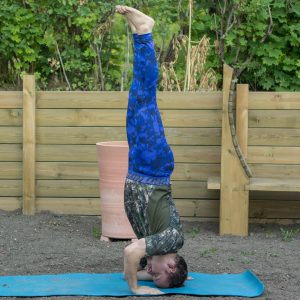 Headstand in July 13th 2017. This awesome yogachallenge is soon coming to its end, and I'll join another one soon, perhaps with a few interchallenge (between challenges) days, or right on this