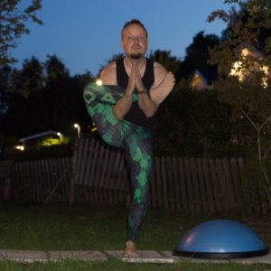 Prayer Hands in August 14th 2017. I jump in and start with my favorite  Prayer Hands or  Anjalimudra variation. Exposure time is 0.3 seconds. I do also bring a natarajasana with four seconds o