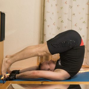 Halasana in October 3rd 2017. Halasana, also known as  Plowpose, is entered from shoulderstand.