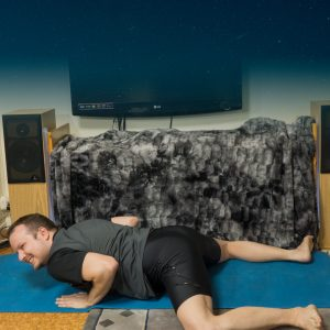 Frog pose in February 5th 2018. This day is  Frogpose or  Mandukasana. Repeat past days workouts for best effect.