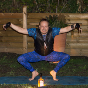 Goddess pose in August 29th 2017. ROAR! It's the fourth  Goddesspose I do in a yogachallenge, and all of them have had different arm poses.