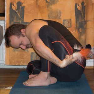Marichyasana in September 23rd 2017. Happy  Rapture :) The toughest part with those  Marichyasana for me is to reach around, so I need a strap for those.