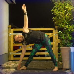 Trikonasana in October 12th 2017. This is one of the first poses that I was taught in Ashtanga Yoga, and one of my bread and butter asanas that I practice is most sessions, regardless which pr