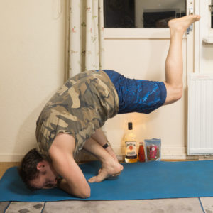 Flying lizard pose in November 8th 2017. Once you get the balance right, this is a great exercise for hamstrings to get your leg up.