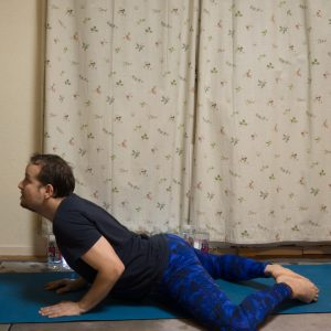 Bound Angle Pose in December 12th 2017. I'm grateful for the  Bound Angle Pose or  Baddha Konasana, it helped me a lot to bounce back from a hip(ster) problem before. No inguinal hernia for me