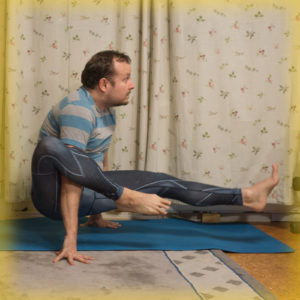 Elephant Trunk Pose in November 16th 2017. Haven't done this much, but it's fun, a good strength builder if you extend the leg, and also a good preparation for eight angle pose.