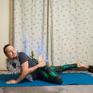 Gherandasana in December 18th 2017. It's the first time I practice any type of  Pose Dedicatedto Sage Gheranda or  Gherandasana.