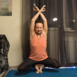 Tiptoe Balance in January 16th 2018. I bring a toestand or  Prapadasana with  Gyanmudra, the seal of knowledge. Supersymmetric matter is a potential candidate for dark matter. Maybe there is a