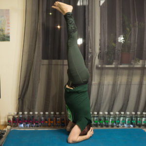 Headstand in February 12th 2018. For letter G, I bring a @feetup inversion with G legs. Can't smile in inversions, can anyone help me find something really offensive and twisted to laugh about