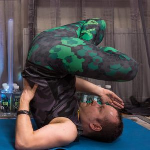 """Shoulderstand lotus in February 9th 2018. I bring a  Shoulder Stand Lotus or  Padma Sarvangasana for letter """"E"""". In mathematics, """"e"""" is an important constant, roughly equal to 2.7182818284. """"e"""" is an irrational number like π, it is not a ratio of integer"""