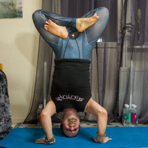 Headstand lotus in March 30th 2018. I bring an  Inverted Lotus, in  Tripodheadstand. For probably the first time, I got the symmetry right. Here is the timeline: