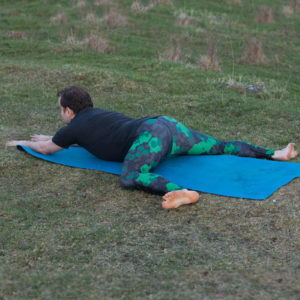 Frog pose in April 20th 2018. Happy flexibilityfriday!  Frogpose or  Mandukasana is a great hipopener and preparation pose for middle splits. And a good preparation for the frog is the bound angle pose.