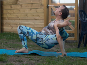 Shiva Pose in April 21st 2018. Both of those are very tough for me, and I go for  Shiva Pose. Like with Visvamitrasana, warm up your hamstrings with everything you got.