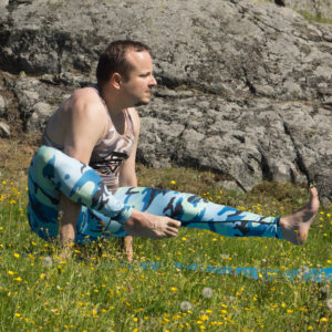 Elephant Trunk Pose in May 24th 2018. The elephant trunk or  Eka Hasta Bhujasana is my favorite way of entering eight angle pose. Can't get my shin above my shoulder yet, so I focus on getting