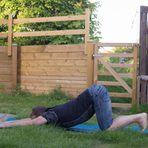 Puppy pose in May 20th 2018. I bring a  Puppypose or  Uttana Shishosana. A good shoulderopener, probably good to pair with humble warrior, eagle pose, cow face and Prasarita Padottanasana C.