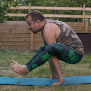 Firefly in July 16th 2018. Woah, I think I've found what held me back in  Firefly or  Tittibhasana - my hands were way too close. Edges of mat is what works best for me. While I have been able to get similar leg extensions on a few very lucky days before,