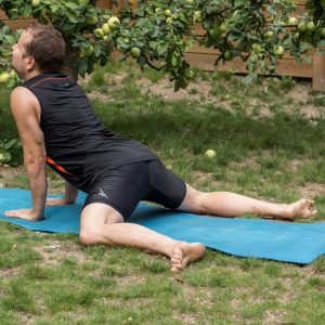 Frog pose in August 2nd 2018. For  Hipopener, I bring a hybrid of  Mandukasana or  Frogpose and  Urdhva Mukha Svanasana or  Upwardfacingdog. A great opener for hips, with a slightly greater st