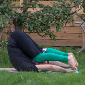 Ear Pressure Pose in September 5th 2018. The  Karnapidasana or  Ear Pressure Pose is an  Ashtanga Yoga pose in a sequence started with shoulder stand and plow pose. It is a pose I was introduc