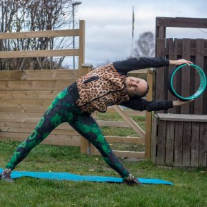 Trikonasana in November 20th 2018. I go for a Trianglepose or Trikonasana variation with my Yoga Wheel, inspired by awesome @crazyasiayoga.