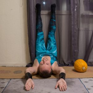 Legs up the wall in November 1st 2018. For first day, I go for a  Legsupthewall or  Viparita Karaniasana, a great restorative  Yinyoga pose which everyone should stay in a few minutes every da