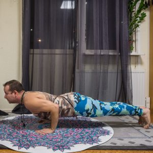 Chaturanga in December 15th 2018. I go for  Fourleggedstaffpose or  Chaturanga Dandasana. A long hold or pushups paused in chaturanga is great to build strong arms.