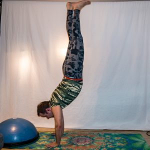 Handstand in January 1st 2019. Today is a big catch-up day :) It's my first  A Year Of Yoga, so next year will be progress photos :)