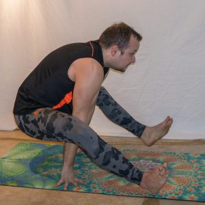 Firefly in January 3rd 2019. I have some photos of  Firefly or  Tittibhasana practice with similar posture from one year ago, but the main difference now is that I can hold it, instead of hopi