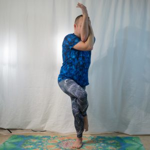 Eagle Pose in January 13th 2019. I bring both, Eagle Pose or Garudasana is awesome for knee health and hip mobility. I've seen different poses tagged Spider Pose, but I go for the one with God