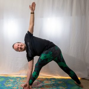 Revolved Triangle Pose in January 7th 2019. Yay, the good old  Parivrttatrikonasana or  Revolved Triangle Pose, this is definitely worth a good smile. It's one of the poses I learned in  Ashta