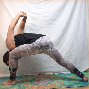 Humble Warrior in February 16th 2019. Humble Warrior or Baddha Virabhadrasana is one of my favorite Shoulder openers and have a thus a different role for me than the other Warriorposes. This p