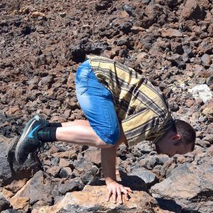 Crow pose in February 23rd 2019. Yay, I'm finally 40 so I can use those epic fitat40 and similar hashtags! Celebrated my birthday with a tour to  Teide, and bring a  Kakasana or  Crowpose near
