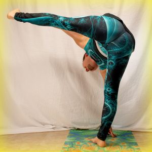 Fire Hydrant Pose in March 15th 2019.  Fire Hydrant Pose is like a mashup of  Extendedhandtobigtoepose or  Utthita Hasta Padangusthasana and wide-legged forward fold. It does actually look lik