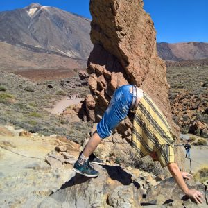 Downward Facing Dog in March 1st 2019.  Iloveinversions so I bring a  Downward Facing Dog or  Adho Mukha Svanasana in  Teide National Park,  Tenerife. All of us need some stressfreedays betime