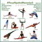 Flyer for the third season of the Flexy Hips And Hammies challenge