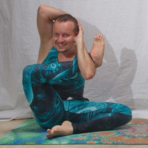 Four Corner Pose is a seated intensive hip opener and hamstring stretch