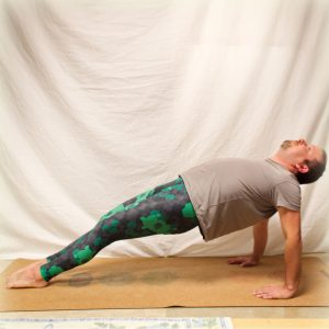 Upward plank in March 3rd 2019. Third day is Purvottanasana or Reverse Plank, a great shoulderopener and a serious strengthener for hamstrings. The shoulder part do also make it a good pinchap