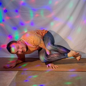 Eight Angle Pose in April 7th 2019. Yay, this is my first Funky Eight Angle Pose, and did it both sides! I prepared with plenty of hamstring stretches and regular Eight Angle Pose or Astavakra