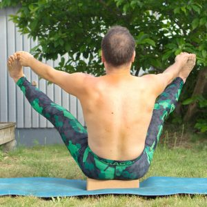 Bound boat in June 23rd 2019. I go for a widelegged bound boat or ubhaya padangusthasana as I've seen in the gallery :) I prepared with regular boat pose.