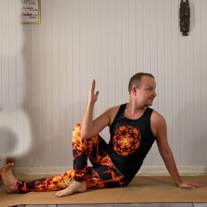 Marichyasana C in January 15th 2020. My choice here is the MarichyasanaC which is my favorite seated spinal twist.