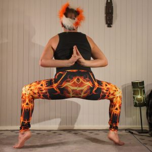 Reverse hands prayer in February 10th 2020. The Reverseprayerpose or Pashchima Namaskarasana is one of my favorite achievements last year, and I bring it in Goddess pose.