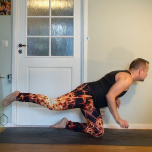Knee Warrior in July 24th 2020. Knee balance is fun :) I bring a One kneebalance which is also known as Knee Warrior.