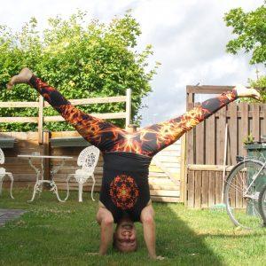 Tripod headstand in July 5th 2020. I bring a Tripod headstand with Straddle split or Samakonasana.