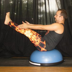 Boatpose in July 11th 2020. Yay, I'm in here! My choice for seatedpose with prop is Boat pose or Navasana on Bosu.