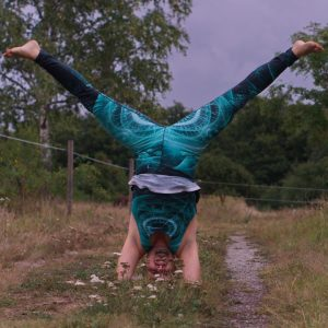 Headstand in September 2nd 2020. My choice today is Sirsasana with Straddle split legs