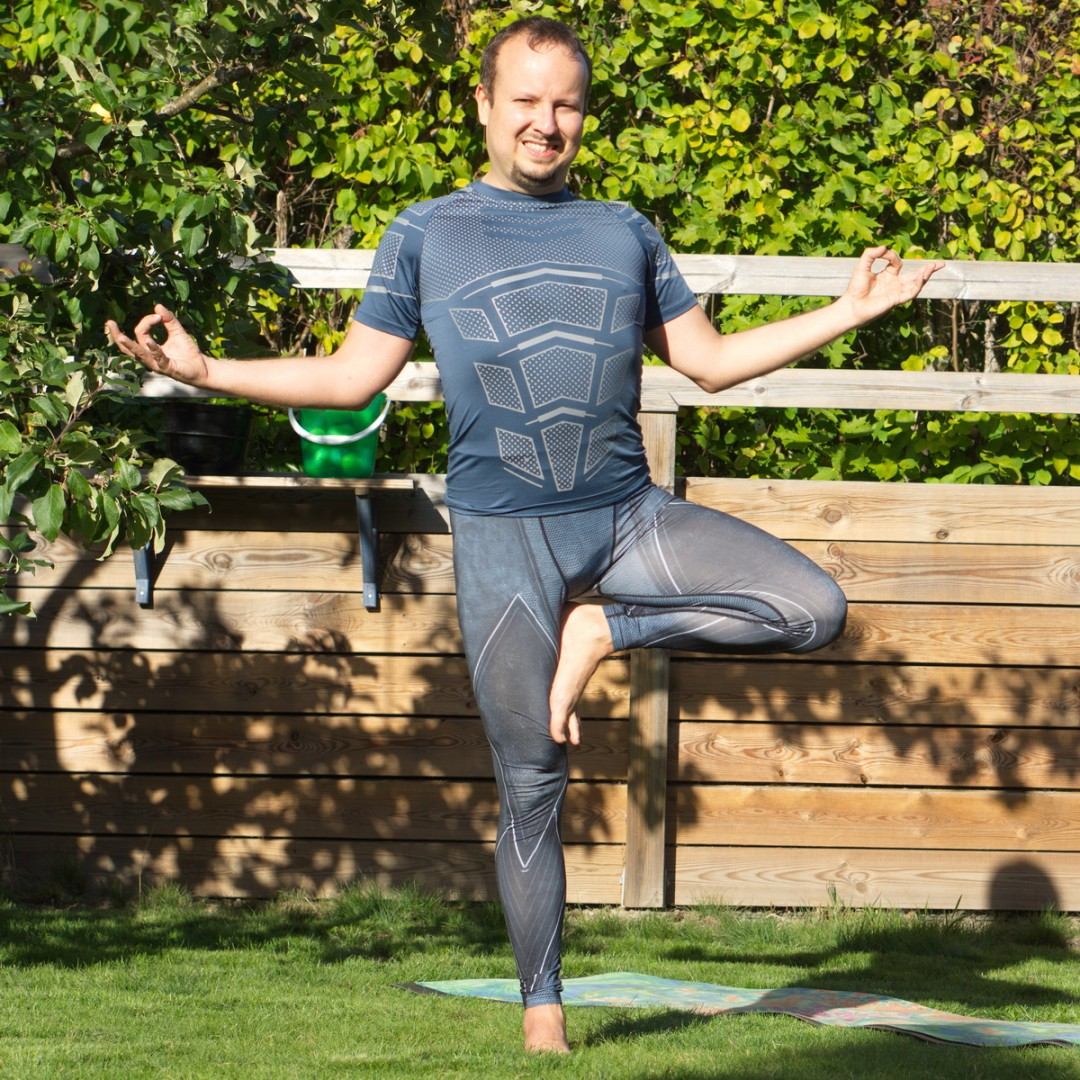 Tree pose in September 7th 2020. My first choice to the forest theme is Vrksasana or Tree pose so that's my pose of the day.