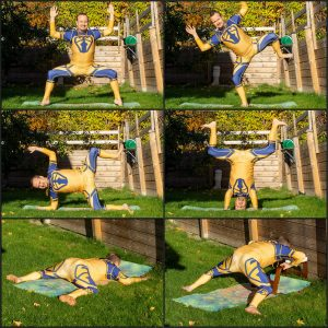 Goddess pose in October 19th 2020. Welcome to the new week! Today is Goddess pose or Utkata Konasana, which allows rotations in both the pitch and the roll axes. You want open hips to get the