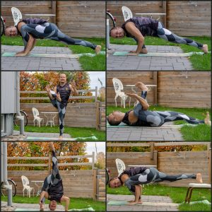 Lizard pose in October 17th 2020. Today is the the day of the Lizard! Unlike the star, rotation here is all about pitch. Utthan Pristhasana or Lizard require open hips and hamstrings, which ge